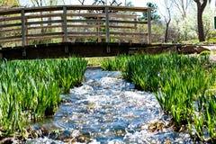 Water under the bridge. Nature photo i took of a stream under this bridge royalty free stock photos