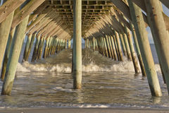 Water Under a Pier Stock Photo