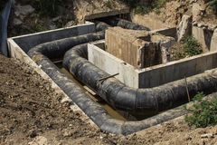 Water Underground Pipes stock photography