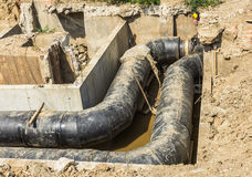 Water Underground Pipes Stock Image