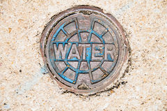 Water Utility Cover Royalty Free Stock Photos