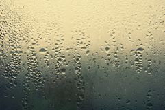 Water (víz). On the window river water drop Royalty Free Stock Photo