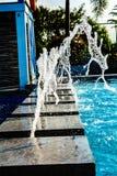 Water, Vacation, Drops, Falls, Fountain, Resort, Blue Water, Trees, Texture, Rizal. Water vacation drops falls fountain resort blue trees texture rizal stock image