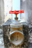 Water valve. Valve water equipment  metal  tap;close  open Stock Photo