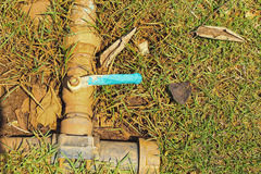 Water valve on a background ground. Stock Photography
