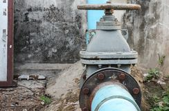 Water valve big, The rust Water valve, and pipe Royalty Free Stock Photography