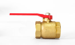 Water valve is brass. Royalty Free Stock Photography