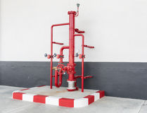 Water valve control stations. Stock Image