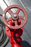 Water valve for fire fighting on a ship Stock Photography