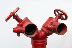 Water valve fire stock photo