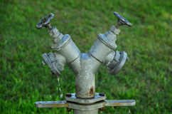 Water valve from a hydrant. Water valve from a metal hydrant Royalty Free Stock Photography