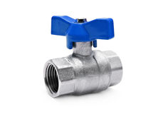 Water valve isolated Royalty Free Stock Photos