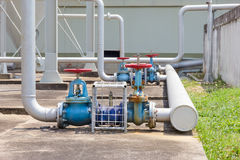 Water valve outside the building industry Royalty Free Stock Image