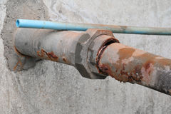 Water valve Plumbing Steel dilapidated old rusty industrial tap Stock Photography
