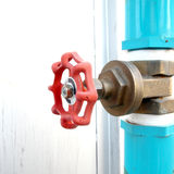 Water valve with pvc pipe Stock Photo