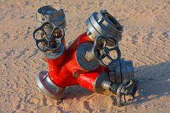 Water valve set. And bayonet coupling Stock Images