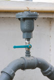 Water valve set in the building, Control water flow by valve Royalty Free Stock Photography