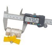 Water valve set and Vernier caliper Royalty Free Stock Photo
