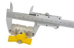 Water valve set and Vernier caliper Stock Photo