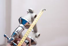 Water valve set and Vernier centimeter Royalty Free Stock Photo