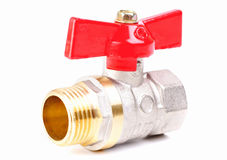 Water valve set on white background Stock Images