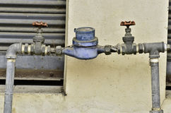 Water valve and steel pipe Stock Photography