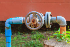 Water valve and steel pipe Royalty Free Stock Images
