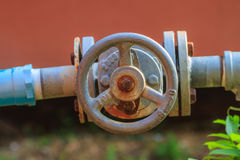 Water valve and steel pipe Stock Images