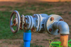 Water valve and steel pipe Stock Image