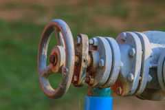 Water valve and steel pipe Royalty Free Stock Photography