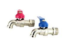 Water valve two pieces on white Royalty Free Stock Photos