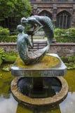 Water van het Levensbeeldhouwwerk in Chester Cathedral royalty-vrije stock afbeeldingen