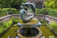 Water van het Levensbeeldhouwwerk in Chester Cathedral royalty-vrije stock afbeelding