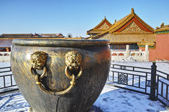The water vat in Forbidden City Stock Images