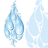 Water vector drops Royalty Free Stock Images