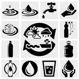 Water vector icons set. Royalty Free Stock Images