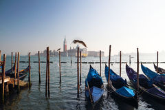 The Pier in Water Venice Stock Photography