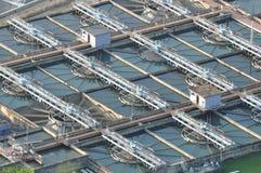 Water-verontreinigde post Stock Foto