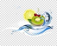 Water verse vruchten Stock Fotografie