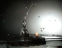 Water versus Brand Stock Foto's