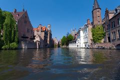 Water-view on Bruges Stock Images