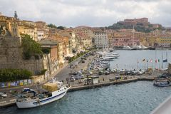 Harbor Portoferraio Elba region of Tuscany in Italy — Stock Photo ...