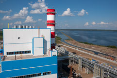 Water views from power plant territory Stock Photography