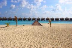 WATER  VILAS IN INDIAN OCEAN. BEAUTIFUL WATER  VILAS IN INDIAN OCEAN, MALDIVE ISLAND, FILITEYO Stock Image