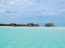 Water villa cottages, Maldives Royalty Free Stock Images