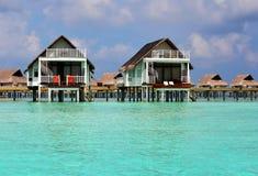 Water Villa on the crystal water. Luxury Water Villa on the Crystal Water Royalty Free Stock Image