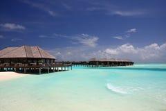 Water villa in maldives Royalty Free Stock Photos