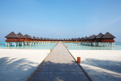 Water villa at Maldives Royalty Free Stock Photos