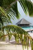 Water Villa in The Ocean. Welcome to island of Paradise! Maldives royalty free stock photo