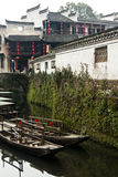 Water Village. It's taken at Wuyuan, China, which is one of the most famous water-towns Royalty Free Stock Photos
